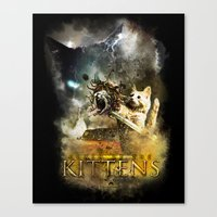Clash of the Kittens  Canvas Print