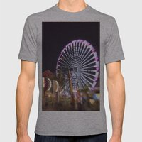 Night Is Young Mens Fitted Tee Athletic Grey SMALL