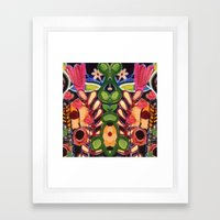 Mirrored Garden Framed Art Print