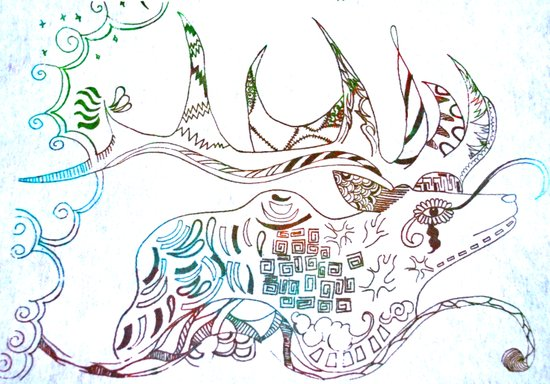 Deer Odd Art Print
