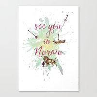 See You In Narnia Canvas Print