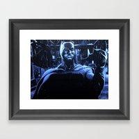 DARK VS LIGHT Framed Art Print