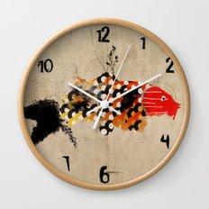 carp_koi_ink Wall Clock