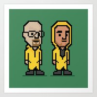 8-Bit: Breaking Bad Art Print