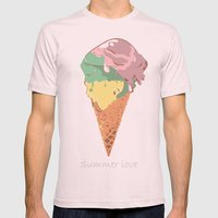 Summer kiss Mens Fitted Tee Light Pink SMALL