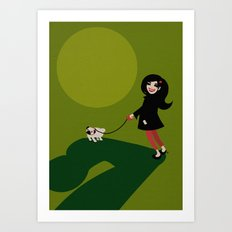 Walkies Art Print