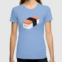 Spam Musubi Womens Fitted Tee Tri-Blue SMALL