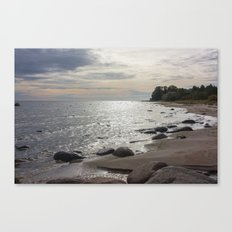 Seascape with stones Canvas Print