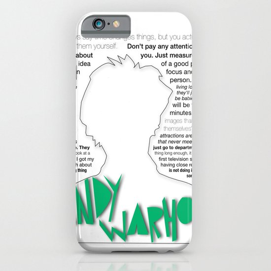 andy warhol quotes iPhone & iPod Case