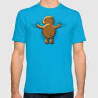 Bear Hug Mens Fitted Tee Teal SMALL