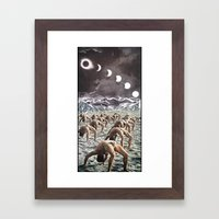 Moon Salutation Framed Art Print