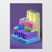 Typographic Insults #5 Canvas Print