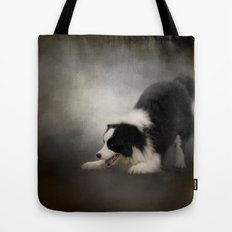 Ready to Play - Border Collie Tote Bag