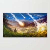 Crashing Down Canvas Print