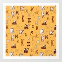 Letter Patterns, Part K Art Print
