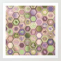 Polygon pattern Art Print