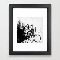 Line Stain Dynamics Framed Art Print