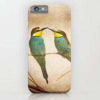 iPhone & iPod Case featuring Love time. Bee-eaters by Guido Montañés