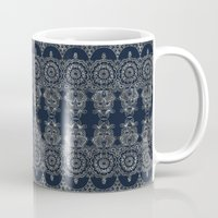 Silvery Striped Doodle Mug