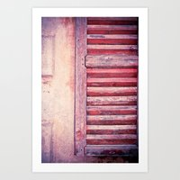 Moody weathered shutter Art Print