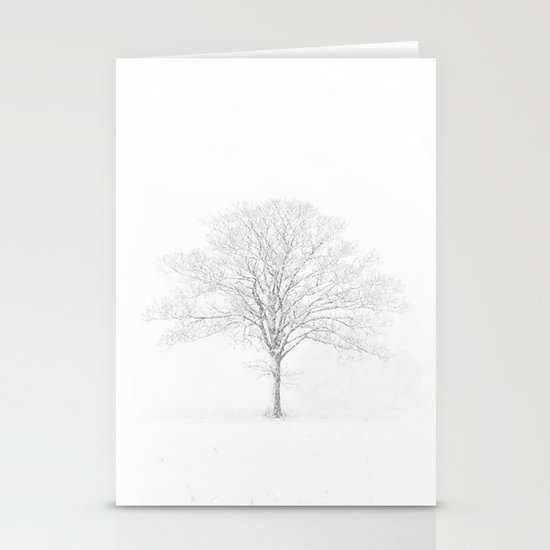 Tree in the Snow Stationery Card