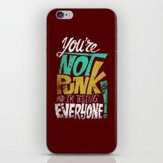 Not Punk iPhone & iPod Skin