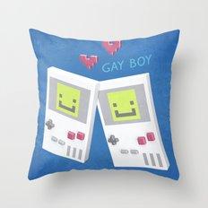 Game Boy Gay Boy Throw Pillow
