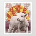 Baa Baa Beach Sheep... Art Print