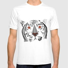 Moirè Tiger SMALL Mens Fitted Tee White