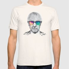 Albert Hofmann - Psychedelic Polygon Low Poly Portrait Mens Fitted Tee Natural SMALL