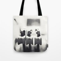 Thrust Levers in Black and White Tote Bag