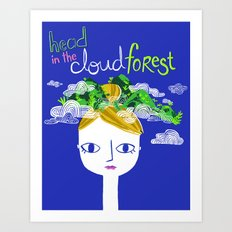 Head in the Cloud Forest Art Print