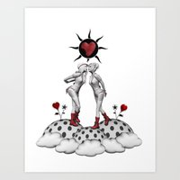 kiss and make up Art Print