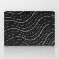Organic Stripes #01: Monochrome version iPad Case