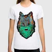 Wolf Mother - Screen Pri… Womens Fitted Tee Ash Grey SMALL