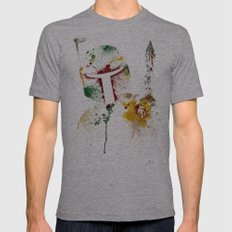Bounty Hunter Mens Fitted Tee Athletic Grey SMALL