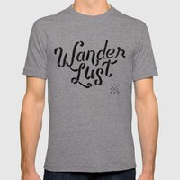 Wanderlust Mens Fitted Tee Tri-Grey SMALL