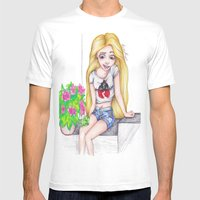 Modern Rapunzel Mens Fitted Tee White SMALL