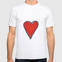I HEART YOU Mens Fitted Tee Ash Grey SMALL