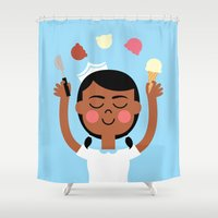 One Scoop Or Two? Shower Curtain