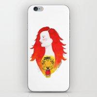 Roaring fire iPhone & iPod Skin