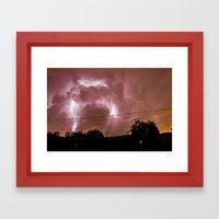 Electric Madness Framed Art Print
