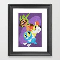 Pokemon: Gen 6 Starters!… Framed Art Print