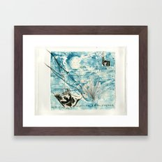 Mermaid of Zennor collagraph 2 Framed Art Print