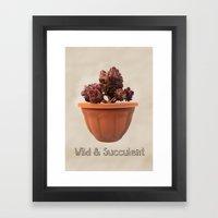Wild & Succulent Framed Art Print