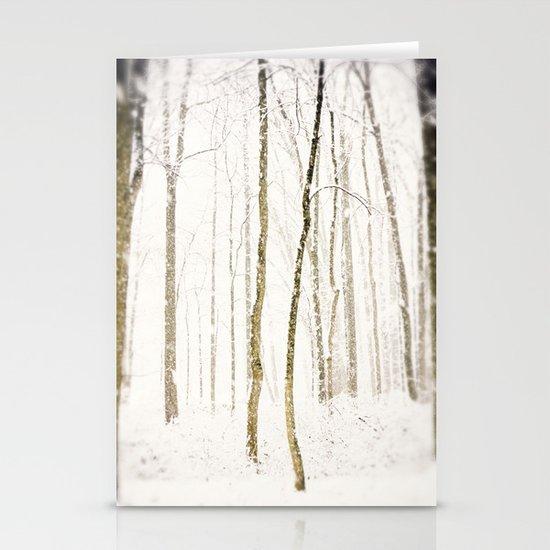 Snowy Trail Stationery Card
