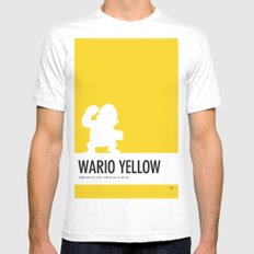 No43 My Minimal Color Code poster Wario Mens Fitted Tee White SMALL