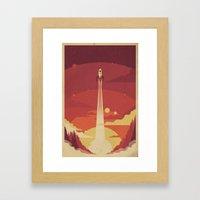 Atomic Sky Framed Art Print