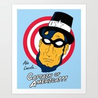 Abe, Captain of America Art Print
