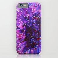 LOTUS BLOSSUM - Beautiful Purple Floral Abstract, Modern Decor in Eggplant Plum Lavender Lilac iPhone 6 Slim Case
